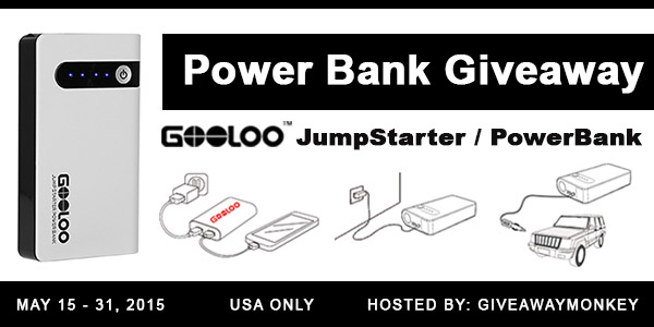 Power Bank Car Jump Starter Giveaway