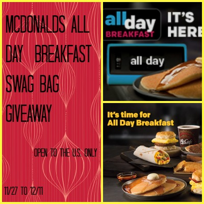 McDonald's All Day Breakfast Swag Bag Giveaway