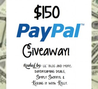 $150 Paypal Cash Worldwide Giveaway