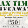 TAX TIME $50 PAYPAL CASH GIVEAWAY