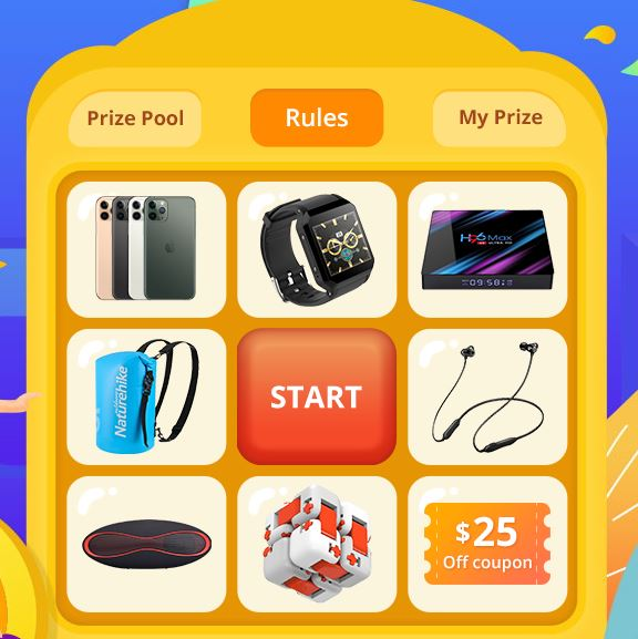 Spin to win a iphone for free