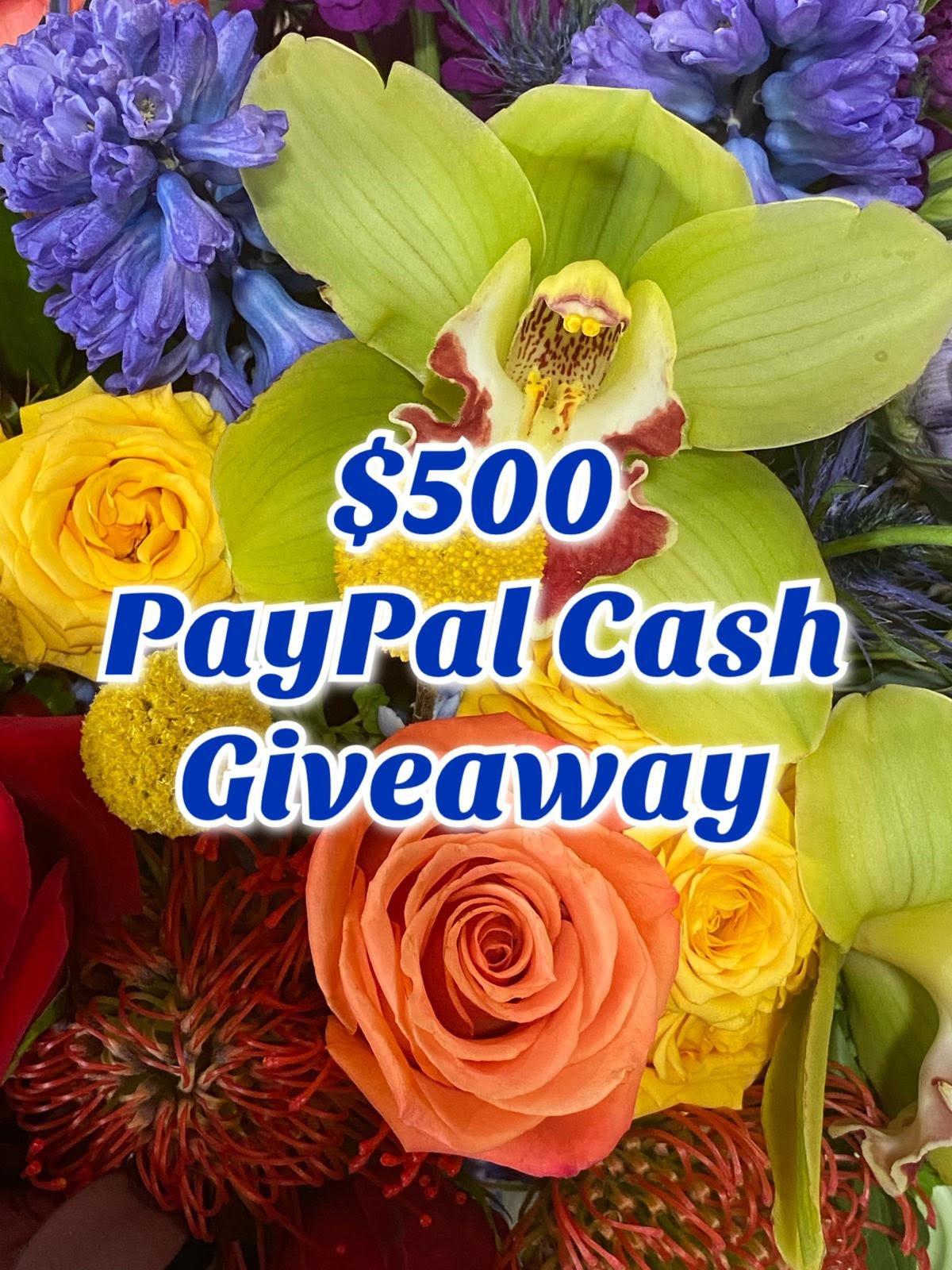 $500 Cash Giveaway Giveaway