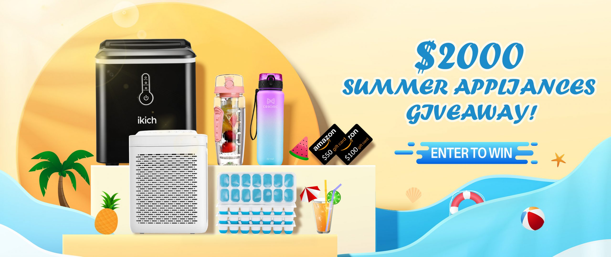 Instantly Spin to Win $2000 Summer Home Appliances! Giveaway