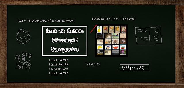 Back To School Postcard Set Giveaway by #PostcardsInTheAttic Giveaway