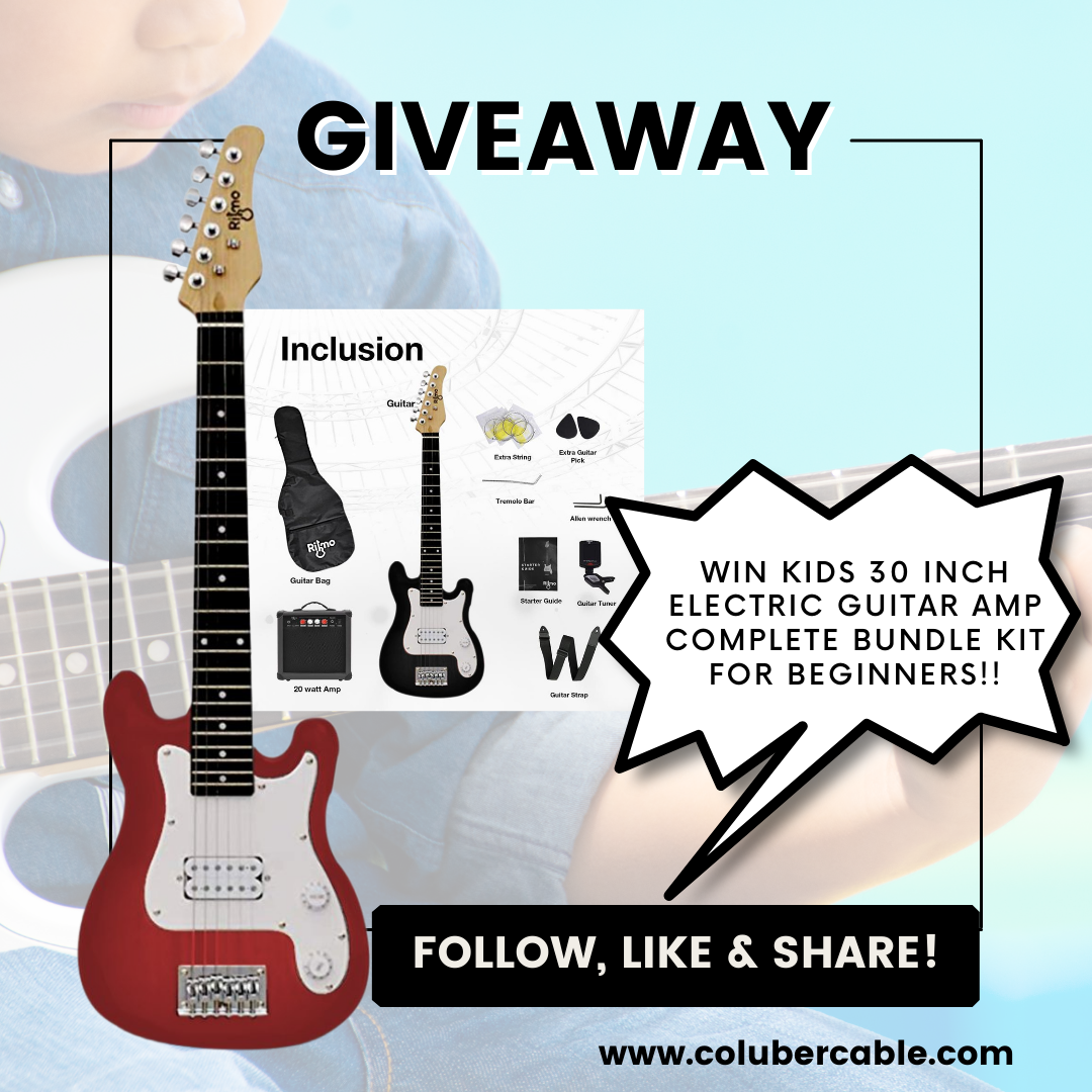 Kids 30 Inch Electric Guitar Amp Complete Bundle Kit For Beginners! Giveaway