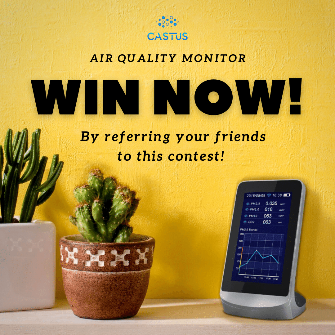 Castus Air Quality Monitor Giveaway