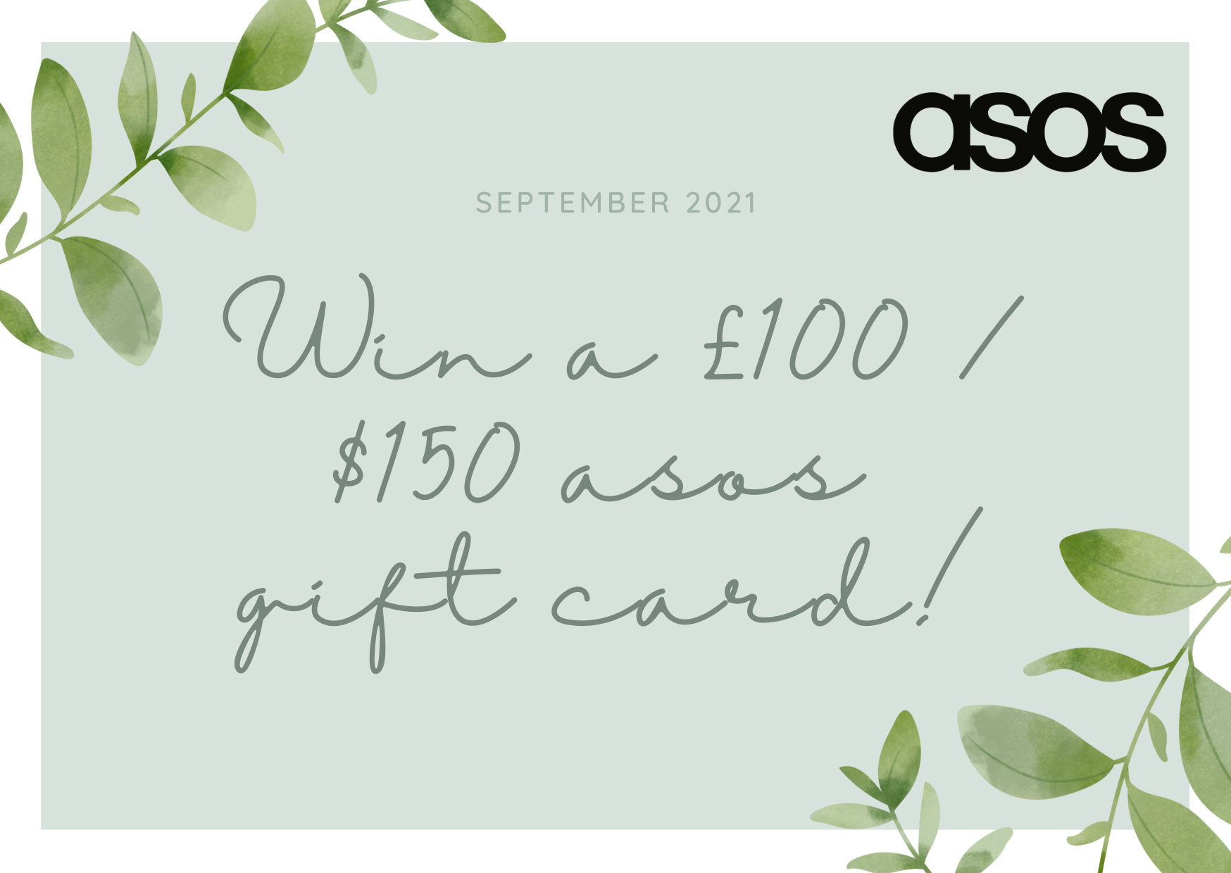 Win a £100 / $150 ASOS gift card to spend on clothes, accessories, and homeware! Giveaway