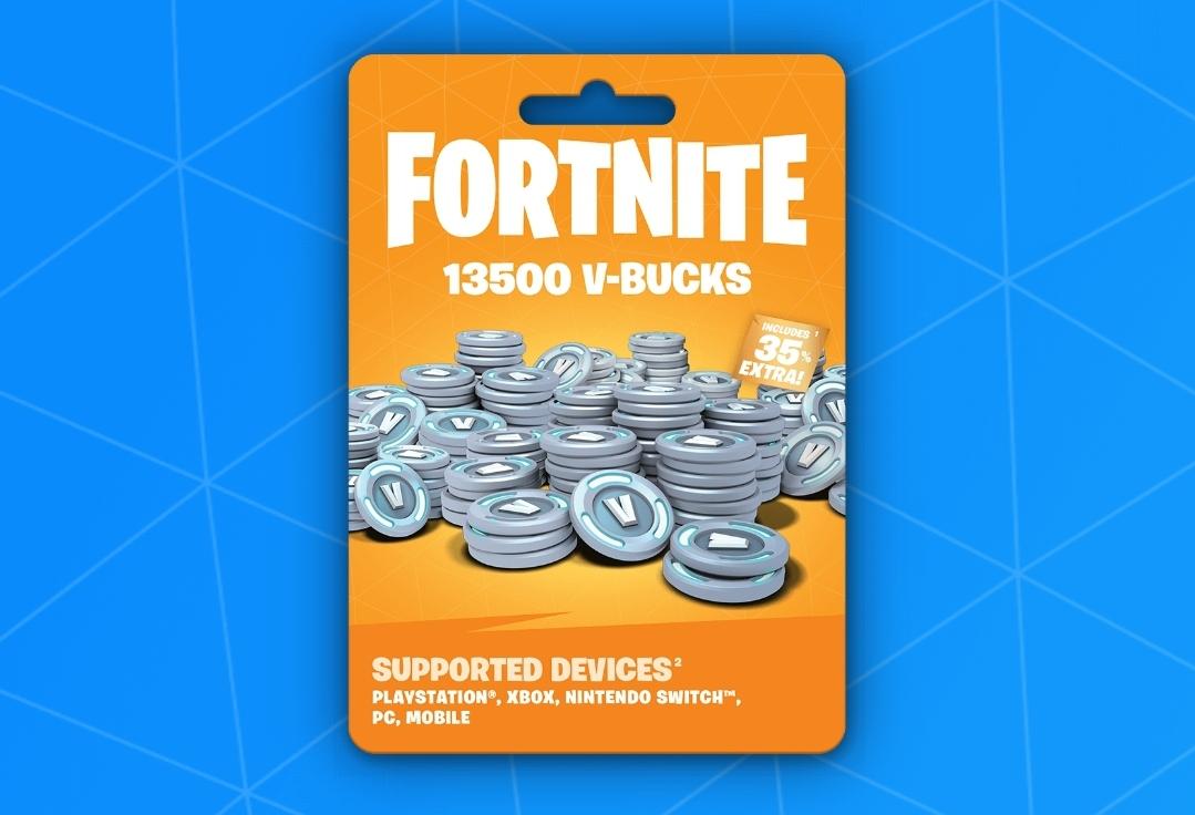 Get 13500 Fornite VBucks Giveaway